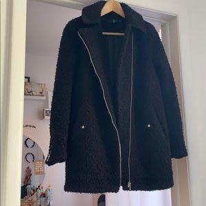 Misguided Black Teddy Coat ✨